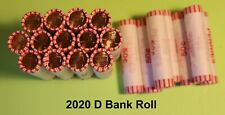 2020D LINCOLN CENT Bank Roll 50 Coins