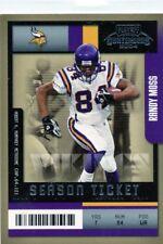 Randy Moss 2004 Playoff Contenders Season Ticket #57 Minnesota Vikings
