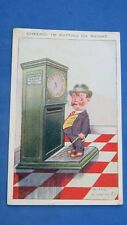 Vintage Comic Postcard 1922 Weighing Machine Old Penny Weigh Scales Fat Man