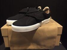 Burberry Westford Knot Sneaker Slip On Black  Size 37.5 Dust Bag New In Box