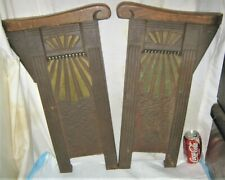 2 ANTIQUE ART DECO USA HEYWOOD WAKEFIELD CAST IRON THEATER END BENCH SEAT CHAIR