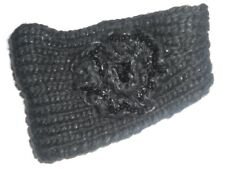 Black head band knitted chunly knit by claires new with tags