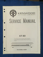 KENWOOD KT-80 TUNER SERVICE MANUAL ORIGINAL FACTORY ISSUE GOOD CONDITION