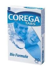 COREGA TABS BIO FORMULA - Cleaning Tablets For Dentures - 30 tabs - Ships Free