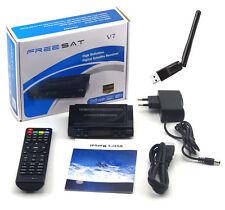 Receptar Satelite Freesat V7 HD + USB WiFi Soporta CCAM HDMI Full HD 1080P