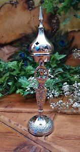 Silver Coloured Goddess Charcoal Incense Resin Burner Altar Wiccan