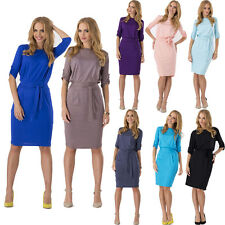 Summer Womens Celeb Lady Bodycon Business Office Work Cocktail Midi Pencil Dress