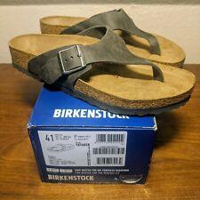 Birkenstock Como Camberra Iron Leather Men's Size 8 or Women's Size 10(EU 41)