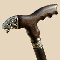 ⭐⭐⭐⭐⭐ Fancy Wood Walking Canes for Men - Alien - Carved Wooden Walking Stick