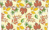 Tischläufer Helge in creme aus Linclass® Airlaid 40 cm x 24 m - Herbstblätter