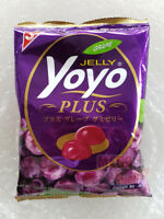 Yoyo Jelly Tropical Fruit Jelatin Dessert Grape Juice Gummy Jelly Candy 80g