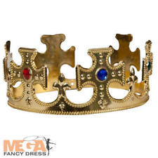 Royal Gold Crown Adulti Costume Da Uomo Donna KING /& QUEEN Natività Accessorio