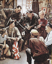 Soldier Essential Worker Norman Rockwell 8x10 Poster Fine Art Print