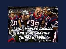 """101 JJ WATT - J. J. Watt Justin James NFL Defensive End 19""""x14"""" Poster"""