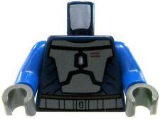 Lego Star Wars Navy Blue with Gray Armor & Blue Arms Loose Torso [Mandalorian]