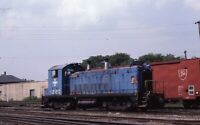 B&M BOSTON & MAINE Railroad Locomotive 1229 LOWEL MA Original 1985 Photo Slide