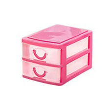Multi-Layer Cute Mini Plastic Desktop Storage Drawer Organizer Box Case