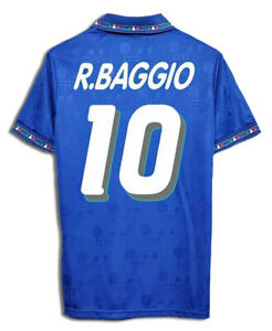 Maglia ITALIA BAGGIO Mondiale 1994 maglietta calcio retro vintage azzurra USA 94