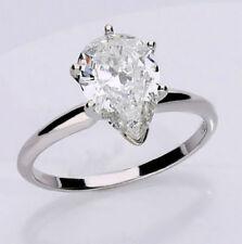 Anillos de joyería con diamantes solitario diamante SI3