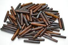 "50 PCS CHOCOLATE BROWN BUFFALO BONE HAIR PIPE BEADS PENDANTS 1 1/2"" #T-2311"