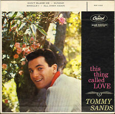 "TOMMY SANDS ""THIS THING CALLED LOVE"" 50'S EP CAPITOL EAP-1 -1123"