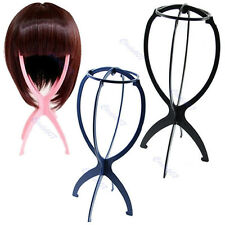 1xNew Wig Display Stand Mannequin Dummy Hat Cap Foldable Stable Tool Hair Holder