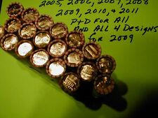 2005-2006-2007-2008-2009-2010-2011 P/D 20 Roll Lincoln Unc Penny BU Cent Box Set