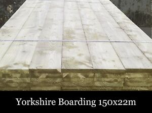 Yorkshire Board 150x22 tanalised timber traditional cladding