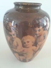 Vintage Enesco Ceramic Cherub Angel Vase