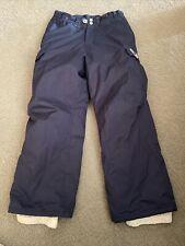 Roxy Girls Ski Snowboard Pants Size M Insulated Navy Blue