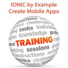 IONIC per esempio crea Mobile Apps HTML 5 CSS JS-Video formazione tutorial DVD