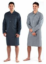 Mens Brushed Night Shirt Traditional Striped Nightshirt 100% Cotton Warm
