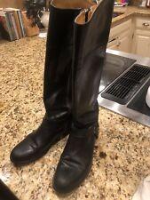 Frye Melissa Harness Boot Size 9B black leather Style 76827. Side zipper
