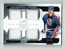 11-12 UD The Cup Foundations  Dale Hawerchuk  /25  Quad Jerseys  HOF