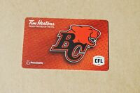TIM HORTONS GIFT CARD B.C. LIONS NEW 4 AVAILABLE FREE SHIPPING