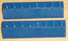 Lego City 2 Schräg- Dachsteine 2 x 8 in dunkel blau
