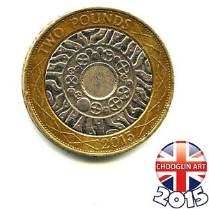 A 2015 British ELIZABETH II TWO POUNDS £2 coin