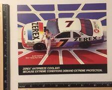RARE ALAN KULWICKI #7 ZEREX FORD RACING  CARD NASCAR WINSTON CUP SCHEDULE 1989