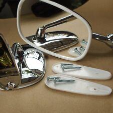 For Fiat 131 132 1300 1500  1961-82 Chrome Fender/Door Mirror Pair Edge Curve x2