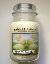 Yankee Candle HAPPY EASTER WHITE CHOCOLATE BUNNIES 22 JAR COLLECTOR'S EDITION