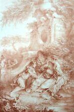 La fontaine d'amour Romantisme Rococo Francois Boucher Lithographie XIXe