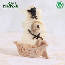 Nicole Silicone Molds For Cake Fondant Decoration Pirate Ship Chocolate Mould