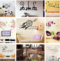 10 Types Vinyl Home Room Decor Art Wall Stickers Removable Decal Mural DIY.Hot~