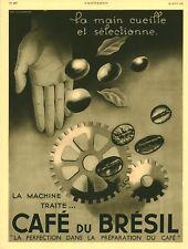 Publicité ancienne café du Brésil la perfection 1936 issue de magazine