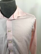 Eton Mens Button Front Dress Shirt Solid Pink 16 41 Contemporary Fit