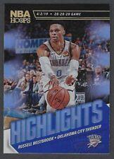 Russell Westbrook 2019-20 Panini NBA Hoops HIGHLIGHTS Insert #2 Thunder SP