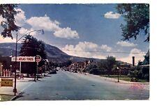 Atlas Tires Sign-Main Street Scene to Downtown-Cedar City-Utah-Vintage Postcard