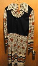 True Vintage Leslie Fay Original Womans Dress Usa 1960'S ? Hippy Retro
