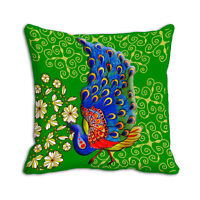 "Peacock Printed Cushion Cover Sofa Home Décor Pillow Case 12"",24""Inches"