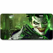 Joker Novelty Aluminum Car License Plate Tag Black and Green New Batman Cool!